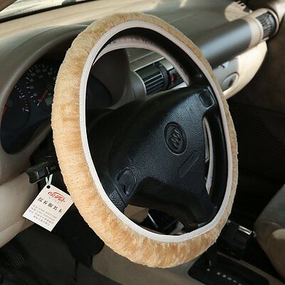 Charm Warm Winter Short Wool Plush Steering Wheel Cover for Car Top