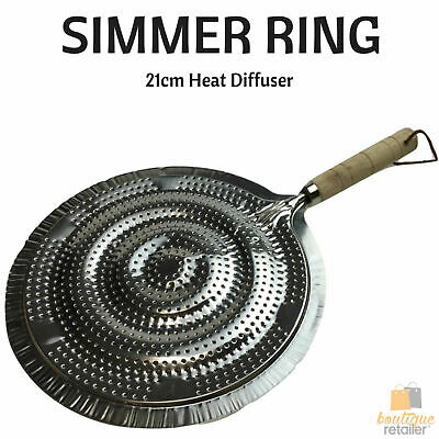 "SIMMER RING Heat Diffuser Stove Pan Gas Electric Slow Cook Ring 21cm 8"" New"