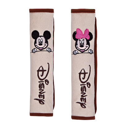 New Disney MickeyMinnie Mouse Car Seat Belt Seatbelt Cover 2pcs