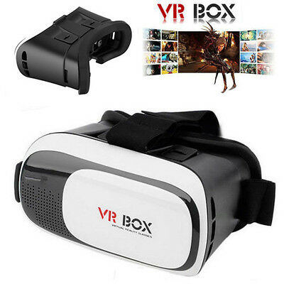 VR 3D Glasses Box Virtual Reality Headset Head Mount For Google Cardboard iPhone