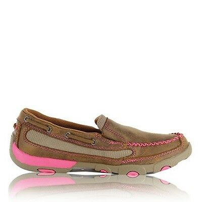 Twisted X - Womens Pink Ribbon Boat Slip On Mocs - LOW