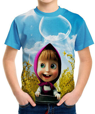 Neu Masha And The Bear  Kinder Jungen T-Shirt Tee Gr 98-152