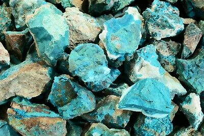 """Chrysocolla 1"""" 2 Pieces Metaphysical Throat Chakra Healing Crystal Rough Stone"""