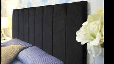 "Top Quality Chenille Fabir Clarence 24"" Height Headboard 3tf,4ft,4ft6,5ft,6ft"