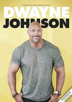 Dwayne Johnson The Rock 2017 Large Wall Calendar New With Free Uk Postage !!