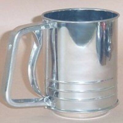 Roscan Stainless Steel 3 Cup Flour Sifter