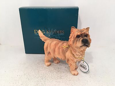 Dog Studies by Leonardo Brown Tan Cairn Terrier Figurine Ornament *NEW BOXED*