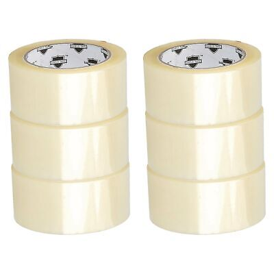 "6 ROLLS Clear 2"" X 110 Yards (330' Ft) Packing Shipping Sealing Box Carton Tape"