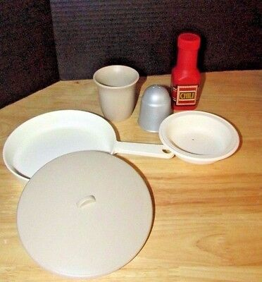 Step 2 kitchen replacement pieces play dishes lot cup bowl pan pepper Chili