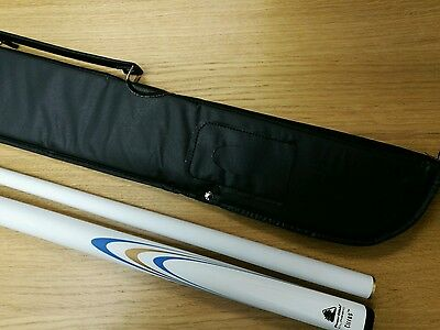 Powerglide WHITE CIRRUS 2 Piece Snooker Pool Cue 10mm Tip