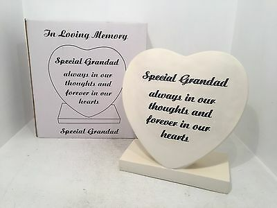 Special Grandad in Our Hearts Grave Memorial Ornament Graveside Heart Shaped