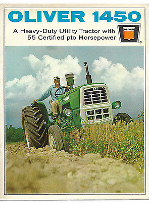 1967 Oliver 1450 Utility Tractor Brochure