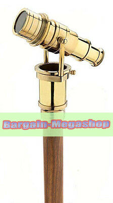Nautical Brass Handle With Folding Telescope Cane Walking Stick In To Fold w1d1