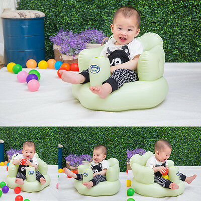Multifunctional Inflatable Baby Sofa Learn Training Seat Bath Dining Chair Y#
