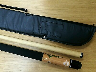 Powerglide Triquetra Center Joint American Pool Cue 11 mm Tip + Soft Case