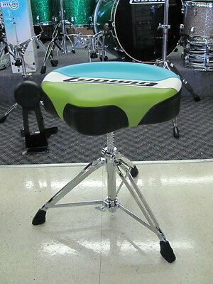 Ludwig Atlas Classic Saddle Drum Throne Stool Seat LAC48TH Blue Olive