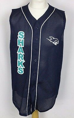 Vintage San Jose Sharks Baseball Jersey Shirt Mens Large Teamwork
