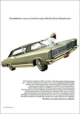 Buick Riviera Retro A3 Poster Print From Classic Advert 1965
