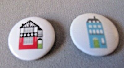 "Houses By The Carole Group Of Workingham Lot Of 2   1"" Pin Backs"