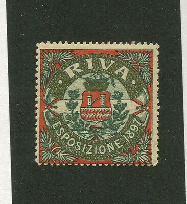 Vintage Poster Stamp Label RIVA ESPOSIZIONE 1897 Italy expo #IM