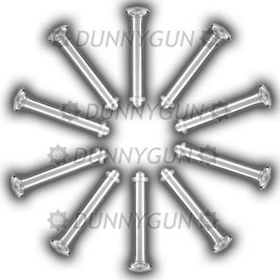 20 Pack 14 Gauge Clear Labret Retainers 14G lip ring stud hide-it dunnygun