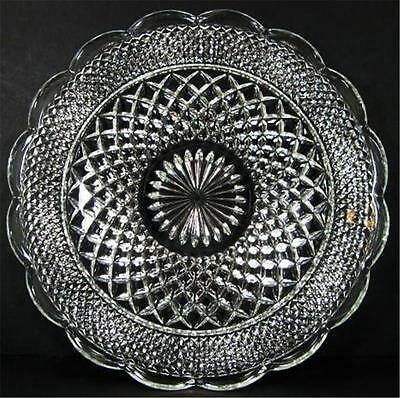 Wexford Anchor Hocking Scalloped Edge Crystal Clear XL 14in Serving Tray Platter