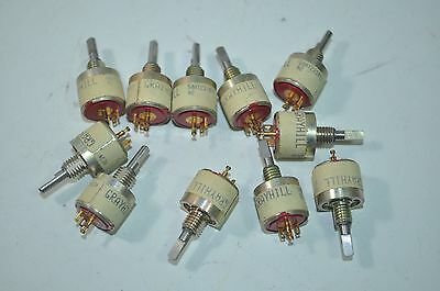 Lot of 11 Grayhill Rotary Momentary Switches Part# 50AY231092