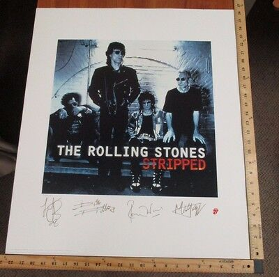 Vintage Rolling Stones Stripped Album Lithograph Poster 22.875 X 26.25 /2500