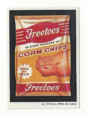1973 Topps Wacky Packages 4th Series 4 FREETOES CORN CHIPS high-gloss ex/ex+