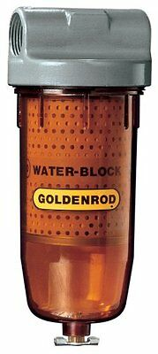 "GOLDENROD 496 Bowl Water-Block Fuel Tank Filter with 1"" NPT Top Cap"