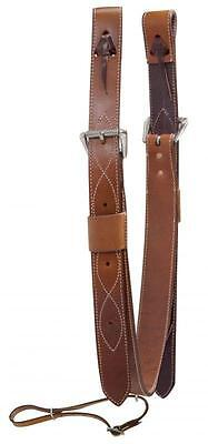 "Showman 2"" Wide Leather Western Saddle Back Cinch With Roller Buckles! TACK!"