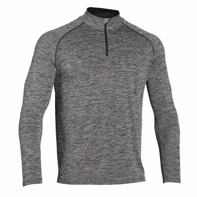 Mens Athletic Apparel Long Sleeve 1/4 Zip Shirt Gym Workout Running Shirts Tops