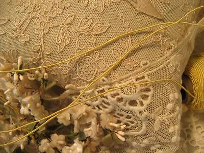 Vintage Tiny Vine Cord ~ Soft Yellow ~ Dolls Embroidery Millinery Craft Quilt *