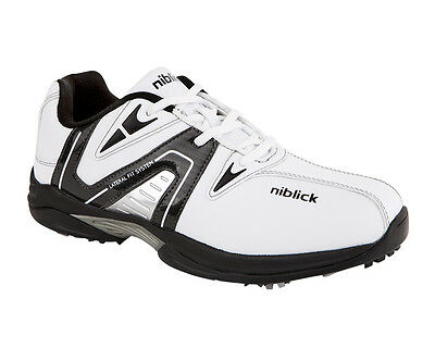 New Niblick Beaumont Golf Shoe White/black