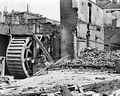 New 11x14 Civil War Photo: Water Wheel and Ruins of Paper Mill in Richmond, Va