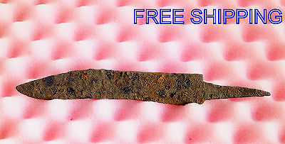 ANCIENT Medieval KNIFE BLADE ROMAN ARTIFACT - 8'' long -  Metal detector Found