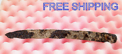 ANCIENT Medieval KNIFE BLADE ROMAN ARTIFACT - 8'' long -  Metal detector Found 2