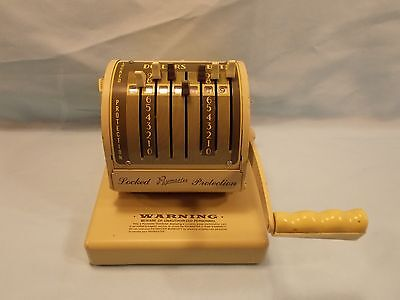 Vintage Paymaster X-550 Locked Protection Check Writer Stamping Machine FREE SHI