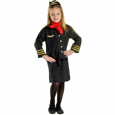 Girl Flight Attendant Costume Set By Dress Up America 2399