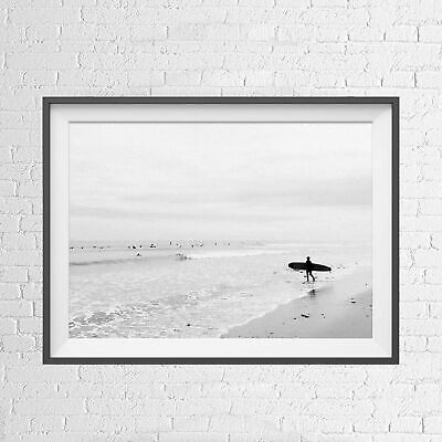 SURFERS OCEAN WAVES LIFESTYLE VINTAGE POSTER PICTURE PRINT Size A5 to A0 **NEW**