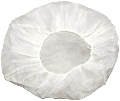 "Disposable Non-woven Bouffant White Cap Hair Net Cap Elastic Free 24"" (800 Pcs)"