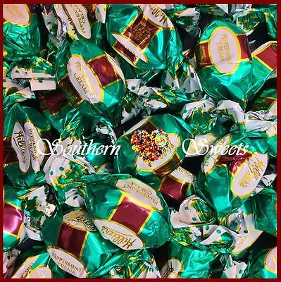 Hilliers 700G Peppermint Creams Twistwraps Christmas Chocolates Green Lollies