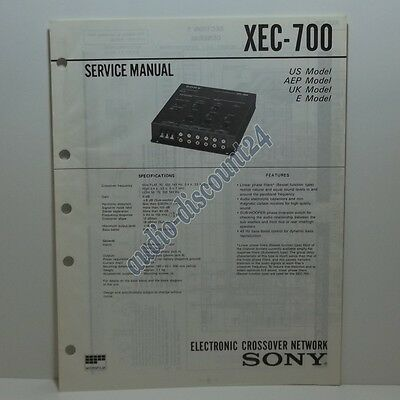 SONY XEC-700 * SERVICE MANUAL (intern:L17)