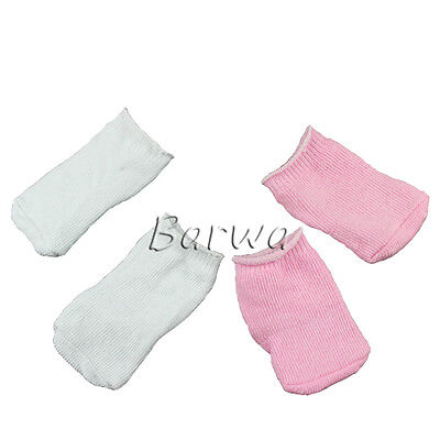 2 Pcs Lovely Handmade Socks White and Pink Set for 18 Inch American Girl Doll