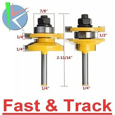 1/4 Inch Shank Rail and Stile Router Bits Standard Ogee Bits for Woodworking