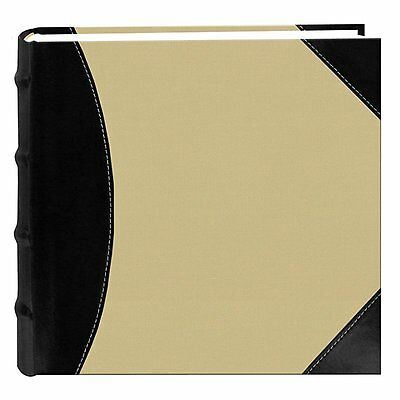 Pioneer 500-4x6 High Capacity Photo Scrapbook Album, Black on Beige New