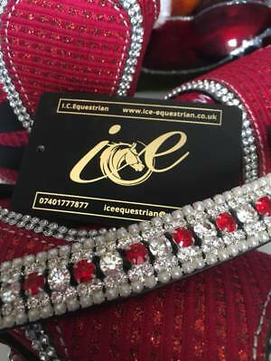 Bling Browband Mega Sparkly Red & Clear
