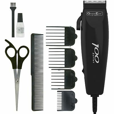 Wahl 100 Series Mens Mains Electric Hair Clipper Shaver Trimmer Kit 10-Piece Set