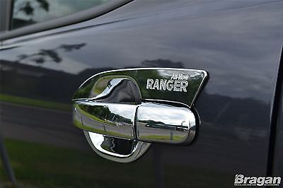 2016+ Ford Ranger Chrome Door Handle Cover Trim Piece 8pce Set
