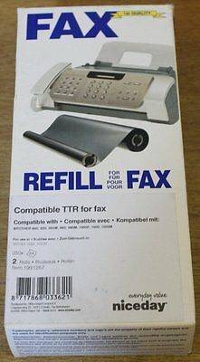 Brother Fax Replacement Black Refill Twin Pack PC92RF for 900, 1000, 1500, G7N